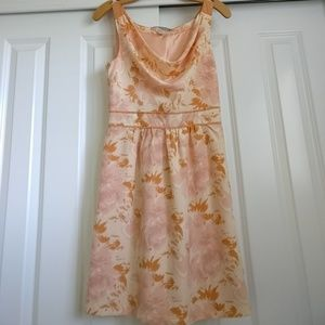 Forever 21 peach floral dress size xs